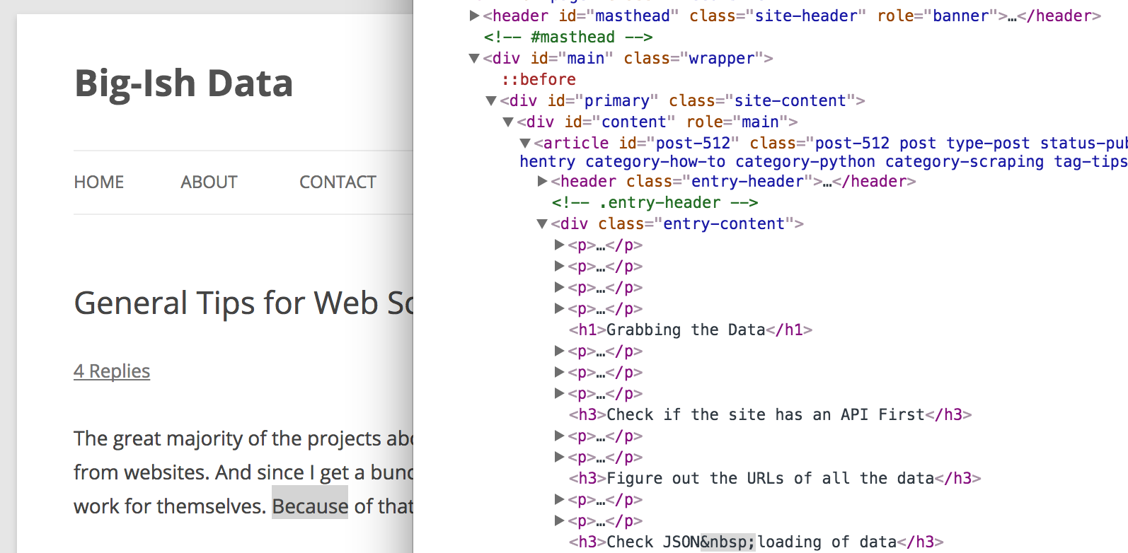 Web Scraping with Python — Part Two — Library overview of